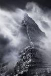 Mount Assiniboine winter storm clouds british columbia