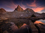 moon, sierra, high, peaks, twilight, backcountry