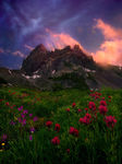 amazing, sunset, oregon, cascade, rugged, peaks