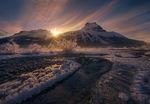 winter sun canadian rockies hoar frost frost ice