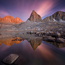 Sierra, backcountry, long exposure, twilight, colors, clouds