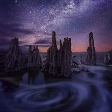 Milky Way, Mono, Lake, night, long exposure, california