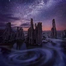 Milky Way, Mono, Lake, night, long exposure, california