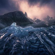 Alaska, ice, waterfalls, glacier, falls, peaks, mountains, kayak