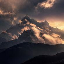 Storm, himalayan, tibet, dramatic