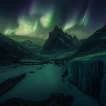Mackenzie mountains, northwest territories, Canada, peaks, aurora, snow, cold, far north, nahanni