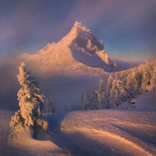 three fingered jack, oregon, peak, backpacking, clearing, snow, ice, winter, mountain