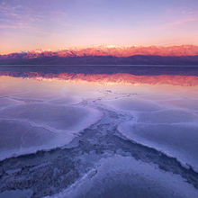 Underwater, salt crystal, crystal, sunrise, badwater, death valley, national park, california