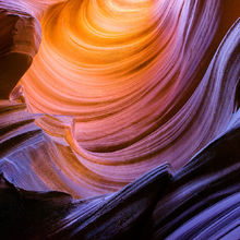 sandstone, remote, deep, canyon, slot canyon, colorful