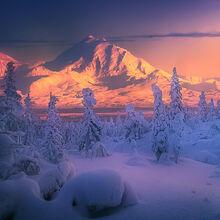 Alaska, Wrangell, December, snowy, mountains, blackburn
