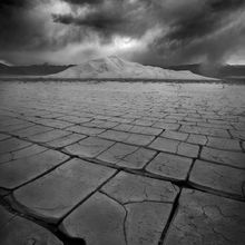 cracks, playa, death valley, dunes, dramatic