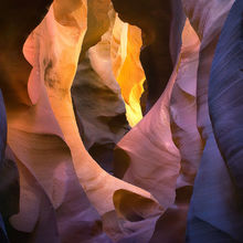 light, color, slot canyon, incredible, remote, canyon