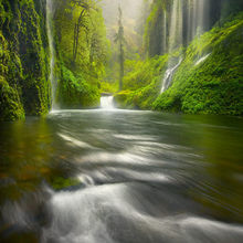amazing, waterfalls, rainforest, lush, oregon, columbia gorge, rain
