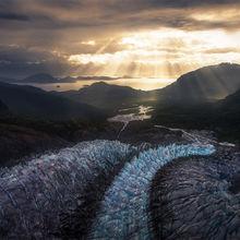 melting, glacier, ice, beams, mountains, Juneau, Herbert