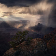 Arizona, Monsoon, Grand Canyon, Lightning, Storm, Rainfall