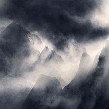 yukon, ogilvie, fog, misty, peaks, jagged