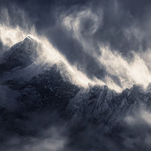 Makalu, snow, blowing, wind, storm, power, dramatic, winter, cold, himalaya, tibet