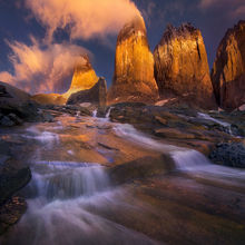 Sunrise, Three Towers, Chile, Unique, Stream