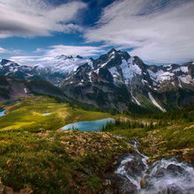 View, remote, mountain, paradise, washington, north cascades