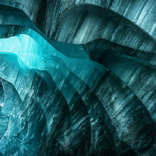 Alaska, ice cave, ice, blue, cold, frozen