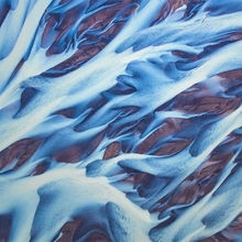 Glacial rivers, abstract, aerial