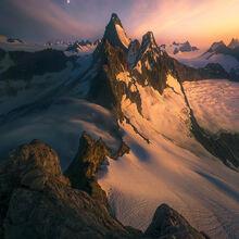 boundary range, ridge, glacial, mountains, Alaska