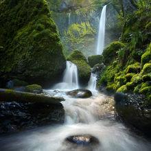 Columbia Gorge, Oregon, Sun, Falls, Cascades