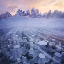 Tombstone, Ogilvie, Yukon, Snow, blowing, ice, lake, mount monolith