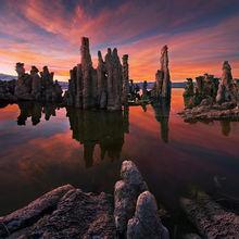 Mono, Lake, Sunset