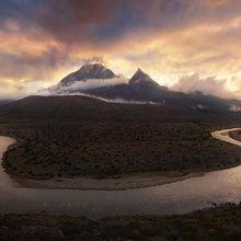 Qudangxiang, tibet, horseshoe bend, river, himalaya