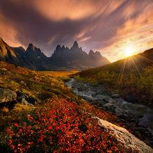 Autumn, Yukon, Peaks, vibrant