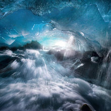 Ice, Cave, Alaska, Boundary Range, stream, splash, blue, cold