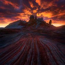 sunset, sandstone, dramatic, jagged, arizona, colorado plateau