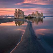 mono lake, california, tufa, sunset, unique