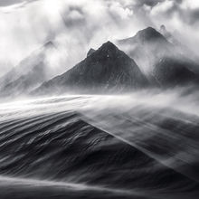 Sierra, dunes, blowing, wind, sand, sandstorm, mountains, California