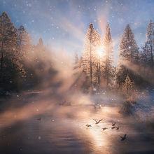 Klamath, oregon, winter, cold