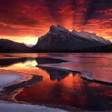 banff, alberta, mount rundle