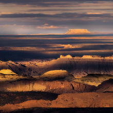 Capitol Reef, Clouds, Layers, Patterns, Aerial, Boulder Mountain