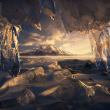 Crystal, ice, icicle, canadian rockies, rockies, canada, alberta, marc adamus, snow, winter, mountains, ice cave, abraham