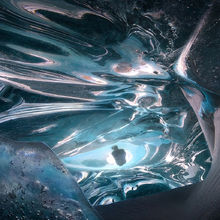 Ice, Mirror, Blue, Ice Cave, Canada