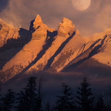 full moon, Banff, Alberta