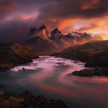 Salto Grande, Torres Del Paine, Chile, Unique, Sunrise