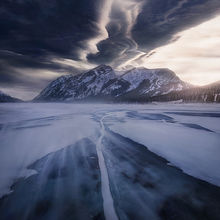 cold, sky, lenticular, ice, wind, winter, snow, blowing, alberta, wave, clouds, mountains