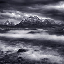 dramatic, violent, water, winter, storm, saint mary lake, glacier, national park
