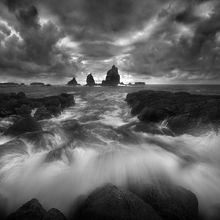 Island, Olympic, Coast, Washington, Stormy, Waves