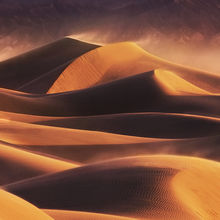 winds, blowing, sand, dunes, death valley, sunrise, light