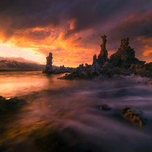 Mono Lake, sunset, California, waves, water, unique