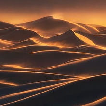 Death Valley, Dunes, Winds, Sunset
