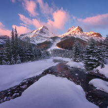 Canadian Rockies, Winter, Sunrise