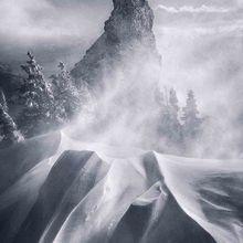 winter, snow, wind, storm, blizzard, cold, oregon, cascades, iron mountain